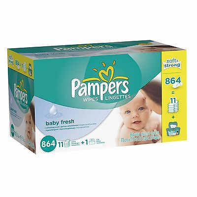 Pampers Baby Fresh Hypoallergenic Disposable Baby Wipes - 864 Count