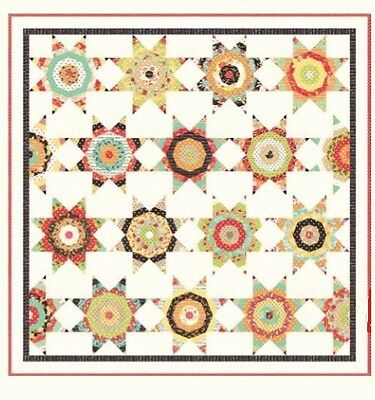 Chestnut Street Midnight Quilt Kit - Cream Version by Fig Tree & Co