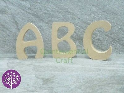 Wooden 18mm MDF Freestanding Alphabet Capital Letter Craft Blank