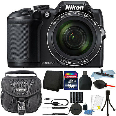 Nikon Coolpix B500 16MP Point and Shoot Camera with 16GB Accessory Kit