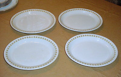 "Vintage 1970's Shenango China 11"" Restaurant Platters Lot of 4 Gold Floral"