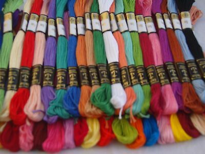 100 Anchor Cross Stitch Cotton Thread Floss -100 Different Colours, Brand New