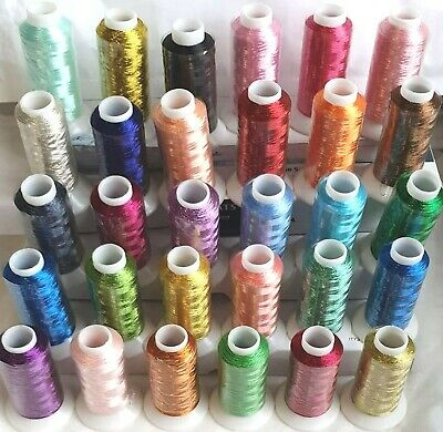 25 Large Embroidery Machine Thread, 1000 meters each, 25 Different Colours