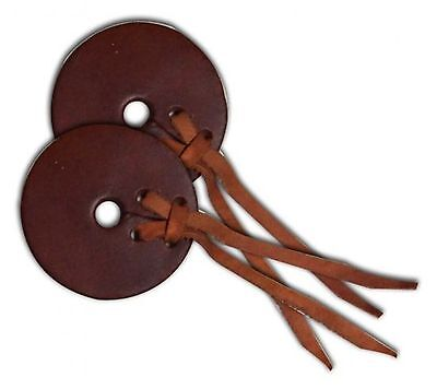 "SHOWMAN 3"" MEDIUM OIL Leather Horse Bit Guards! SOLD IN PAIRS! NEW HORSE TACK!"