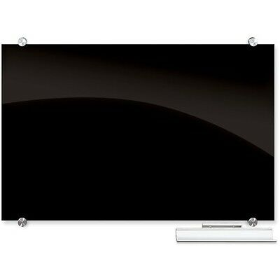 Best-Rite Visionary Black Magnetic Glass Markerboard - 84061