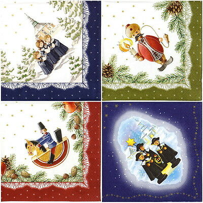4x Paper Napkins for Decoupage Decopatch Craft X-mas Miniature