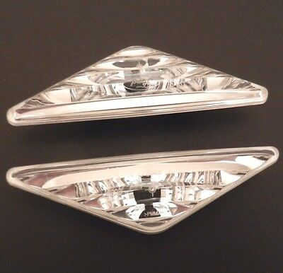 GENUINE Ford Focus 98-04 Mondeo 00-07 Side Indicator Light Repeaters Clear Pair