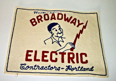 Vintage Employee Patch Broadway Electric Contractors Portland Or.