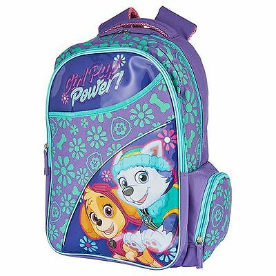 NEW Paw Patrol Girls Pup Power Front Pocket Backpack Kids