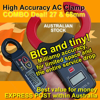 COMBO: High Accuracy Milliamp AC Clamp 27 & 68mm Oz stock