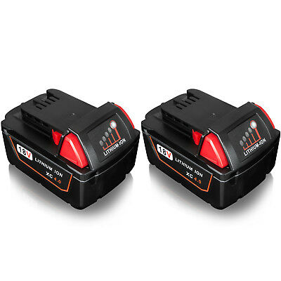 2x For MILWAUKEE M18 48-11-1840 Lithium Ion 4.0Ah 18V Battery 4000MAH M18B4 UK