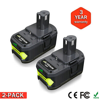 2X 4.0Ah 18V Volt Lithium Ion Battery for Ryobi P108 P105 P500 RB18L40 BPL18151