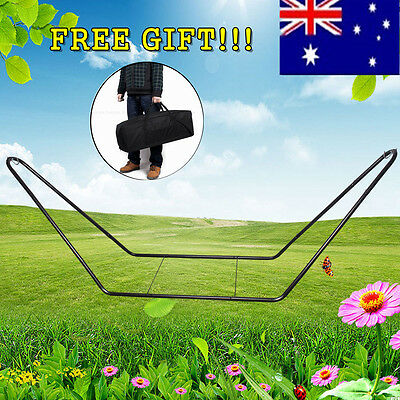 Outdoor Heavy Duty Extra Large Metal Steel Frame Hammock Stand Free Carry Bag AU