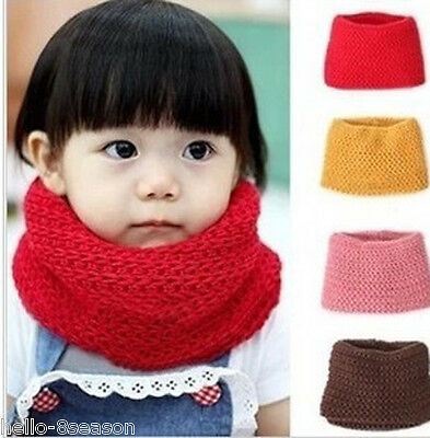 HOT New Muffler Baby Boys Girls Warm Scarf Knitted O Ring Knitting Kids Neck