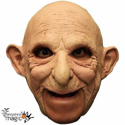Deluxe Adult Bald Gus Old Man Grandpa Scary Halloween Chinless Latex Head Mask