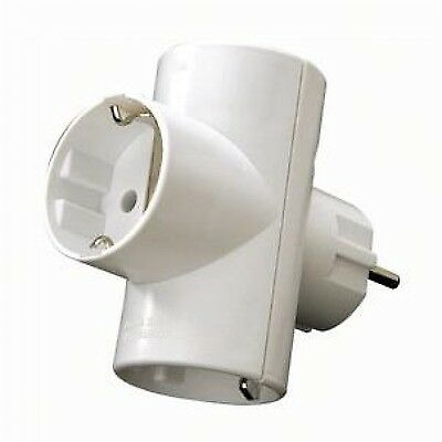 Adaptador Triple schuko Vertical 16A, Base Multiple, Ladron 3 tomas Envio España