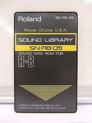 Roland Sound Data Rom For R-8 Sn-R8-09 Power Drums Usa