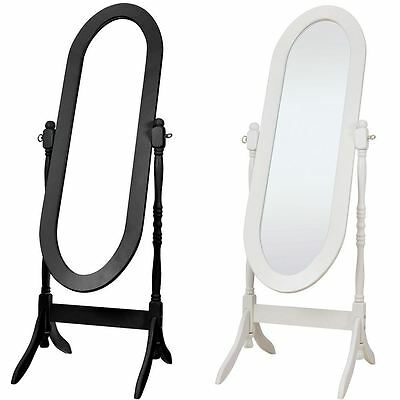 Tall antique white dressing room full length floor wall for Black floor length mirror
