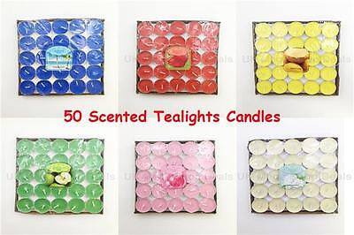 50 Pk Candles Tealights Tea Light Candle Pack Wedding Party Love