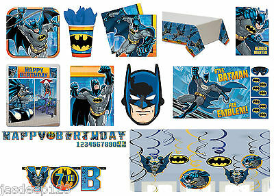 Batman Dc Party Tableware Decorations Boys Birthday Party Range Supplies Kids