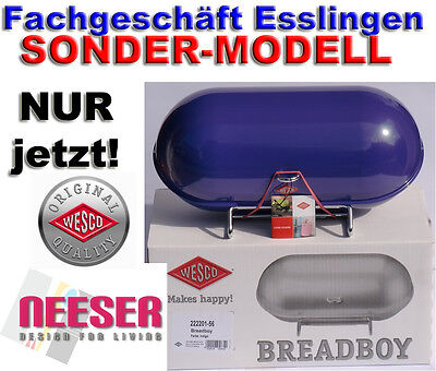 WESCO BREADBOY design BROTKASTEN zum pushboy in INDIGO SONDERMODELL Brottrommel