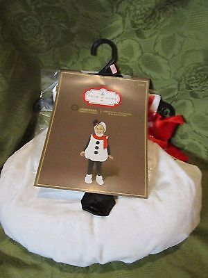TRIM A HOME CUTE Toddler Snowman Christmas Plush Outfit Costume NEW 2-4 2T/4T