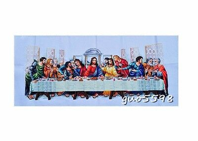 """New Completed finished cross stitch""""LAST SUPPER""""home decor gift"""