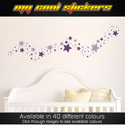 50 Solid Stars Removable Wall Stickers Kids Baby Room Nursery