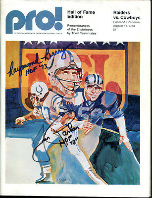 Raymond Berry Jim Parker Signed 1973 Pro Game Program Autographed