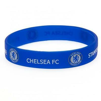 Official Licensed Football Product Chelsea Silicone Wristband Crest Rubber Gift