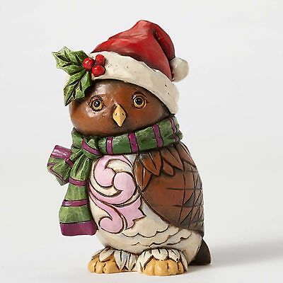 Jim Shore New 2016 OWL BE HOME Pint Sized Christmas Owl Figurine 4053821