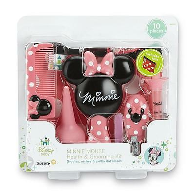 Disney Baby Minnie Mouse Infant Girl 10Pc Health Grooming Kit Gift Beautiful Set