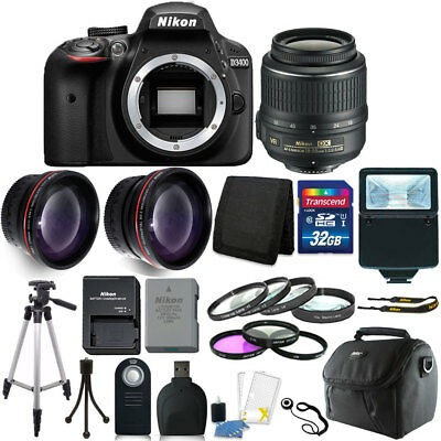 Nikon D3400 24MP Digital SLR Camera + 18-55mm Lens + 32GB Great Value Kit!
