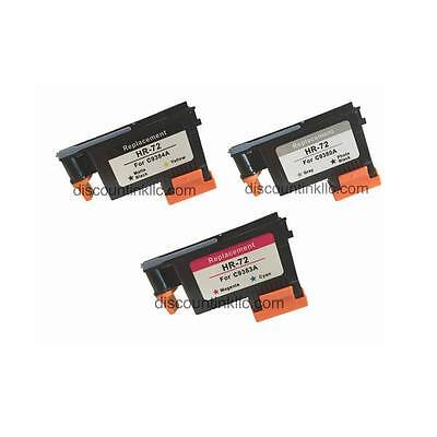 3pk Refurbished for HP 72 Printhead HP Designjet T610 T7770 T790 T1120 T1120ps