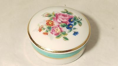 Limoges Small Floral Round Pill Box - EXCELLENT Condition