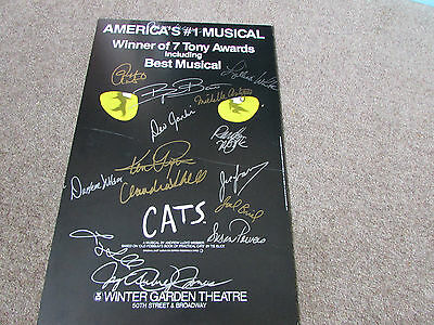 CATS Musical Multi Signed by CAST Winter GARDEN Theatre US BROADWAY Show Poster