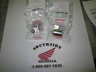 Genuine Honda Points And Condenser Set Xl80S Xr100 Xr75 Xr80 Z50A  Na50 Nc50