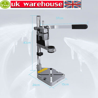 Plunge Power Drill Press Stand Bench Pillar Pedestal Clamp For Drilling Collet