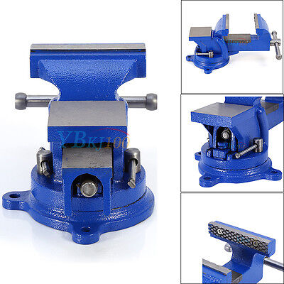 Heavy Duty Work Bench Vice Vise Workshop Clamp Engineer Jaw Swivel Base Table Uk