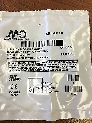 Automation Direct Inductive Proximity Switch Ae1-Ap-3F *new In Factory Bag*