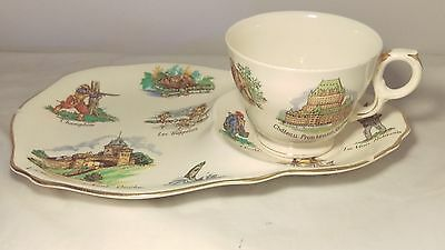 Rare Royal Winton Old Canada Snack Plate Cup And Saucer Set