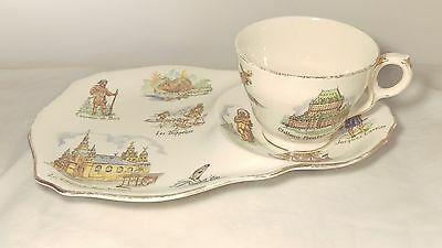 Rare Royal Winton Old Canada Snack Plate Cup And Saucer Set - Good Condition