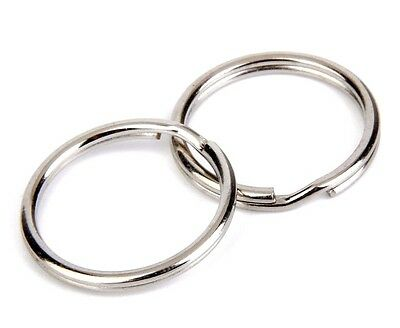 10pcs 10mm to 40mm Large size Split Rings Key Ring Keychain Clip Holder Findings