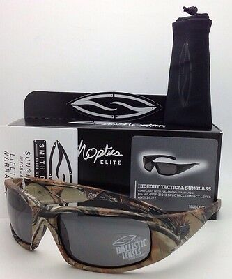 ef4b4bdd04 New SMITH OPTICS HIDEOUT TACTICAL Series Sunglasses Realtree AP w  Grey  lenses