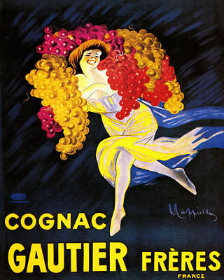 Grapes Wine Bologna Fashion Italian Girl Italy Vintage Poster Repro FREE S//H
