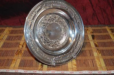 "Vintage Viking Plate Silver-Plated on Copper 7 1/2"" Plate Etched Design"