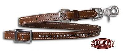 Showman MEDIUM OIL Western Horse Wither Strap with Silver Studs NEW HORSE TACK!