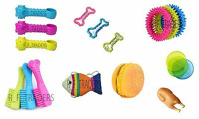 Chews Teething Gum Chew Rubber Toy Fetch Game Healthier Dog Puppy Frisbee Play