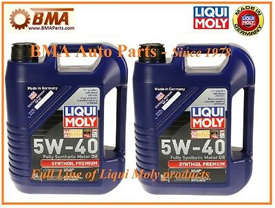 10 Liters Engine Motor Oil Liqui Moly Premium Fully Synthetic 5W40 for Audi 2041