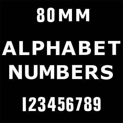 "3"" White Vinyl Numbers Letters Custom Self Adhesive Lettering Stickers Shop Sign"